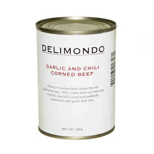 Delimondo Garlic & Chili Corned Beef (380 grams)