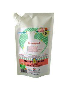 Messy Bessy Liquid Laundry Detergent, Natural Grapefruit (1 liter)