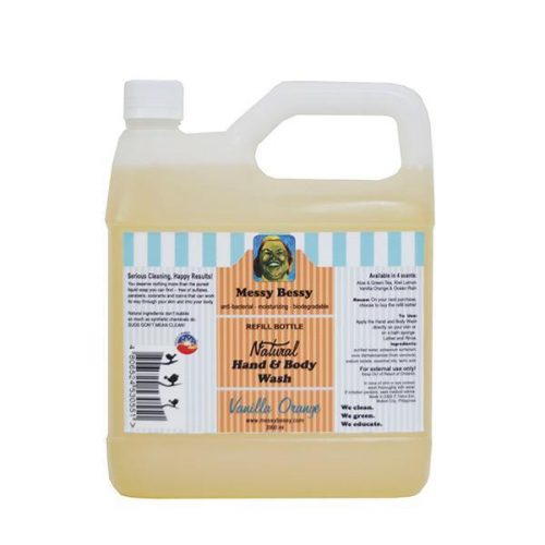 Messy Bessy Vanilla Orange Hand & Body Wash, Refill (2 liter)
