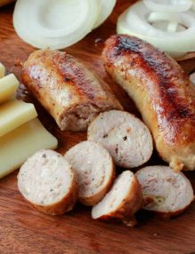 Organic Caramelized Onion & Mozzarella Sausage