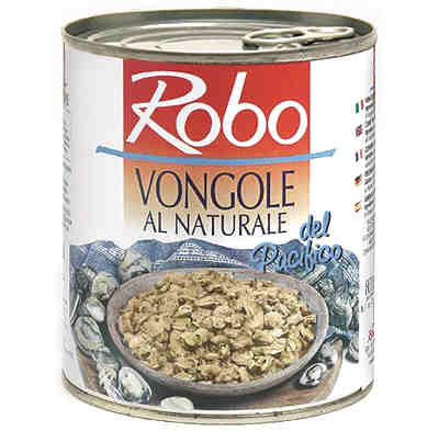Robo Italy Shelled Baby Clams (Vongole Al Naturale (400 grams)