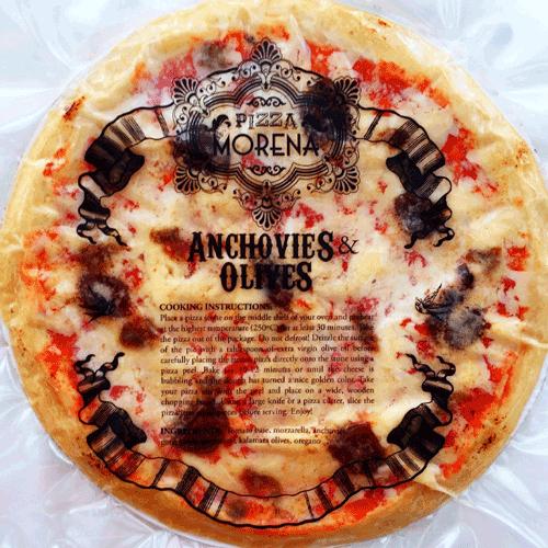 pizza morena frozen pizza anchovies olives gorgonzola the